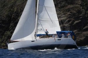 Island Time racing at Easter Regatta Bequia